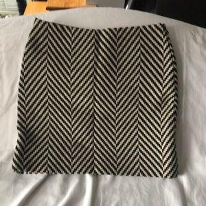 Michael Kors Herringbone Wool Skirt